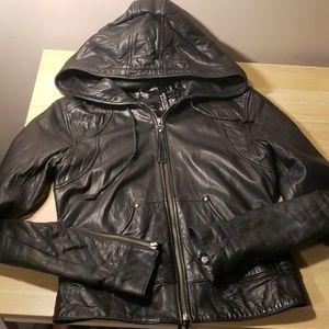 Affliction Leather Moto Jacket